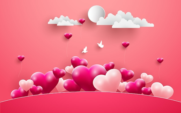 Illustrations of love and valentine's day