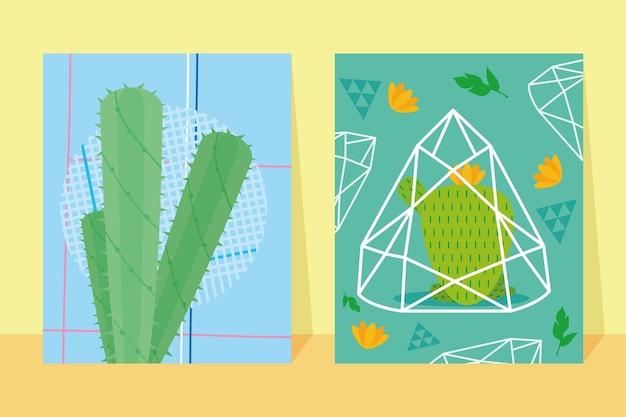 선인장 식물의 삽화