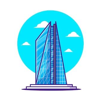 Иллюстрации к зданию «осколок». всемирный день туризма, концепция здания и достопримечательности