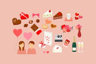 Illustrations of Valentine