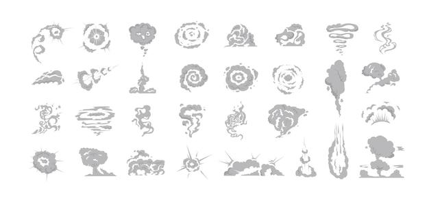 Illustrations of smoke