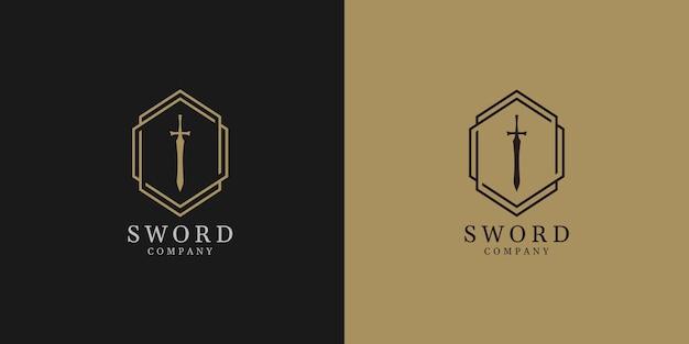 Illustrations of sword logo design