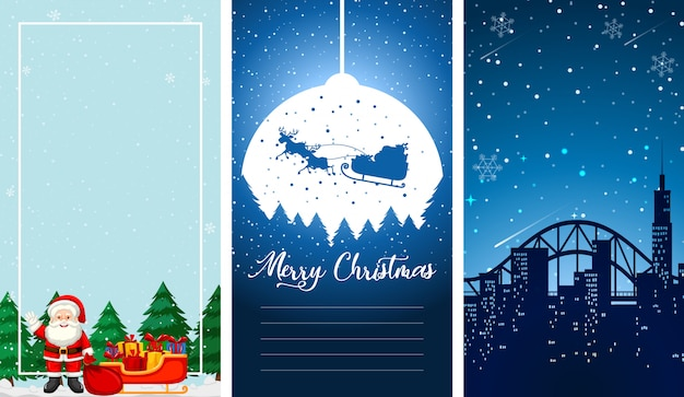 Illustrations with christmas theme