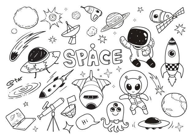 Illustratioon doodle galaxy
