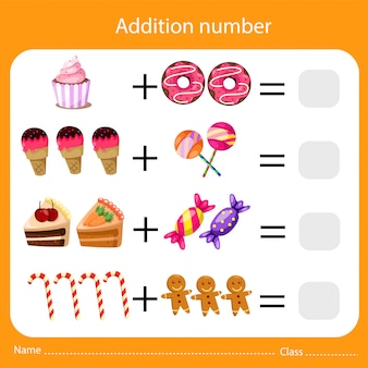 Illustrator of addition number two
