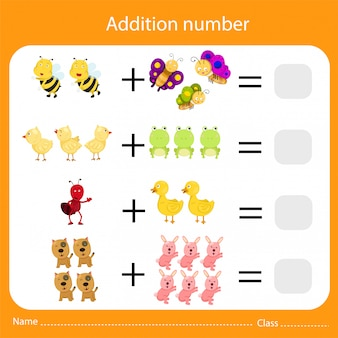 Illustrator of addition number