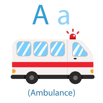 Illustrator of a for ambulance