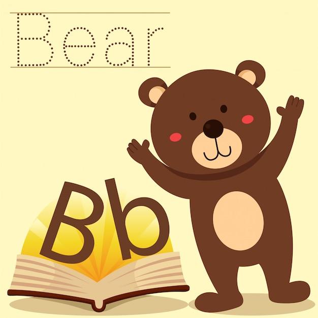 Illustrator of b for bear vocabulary