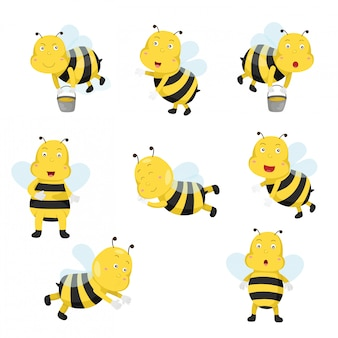 Illustrator of bees funny cartoon