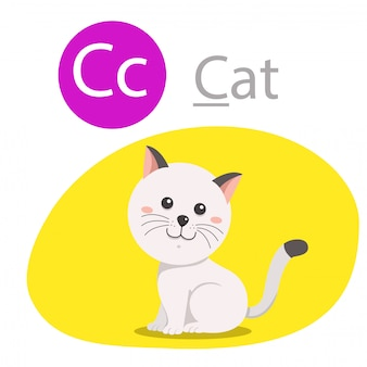 Illustrator of c for cat animal