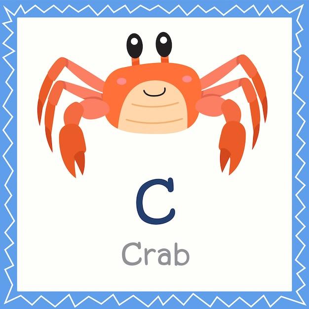 Illustrator of c for crab animal