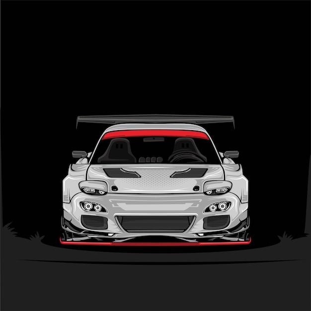 Иллюстратор автомобиля с детализацией