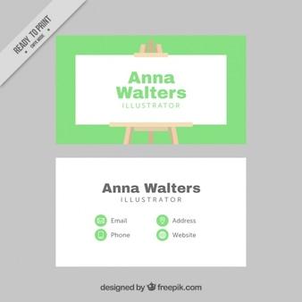 Carta di illustrator con tela
