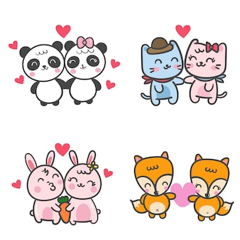 Illustrator of cute animal collection