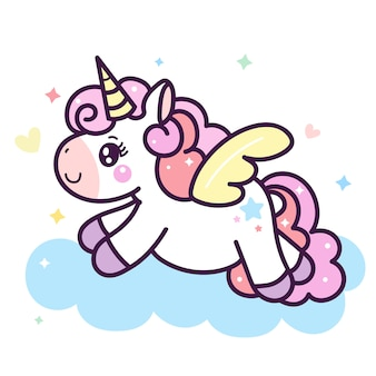 Illustrator of cute unicorn cartoon