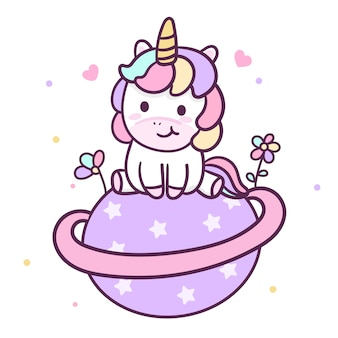 Illustrator of cute unicorn