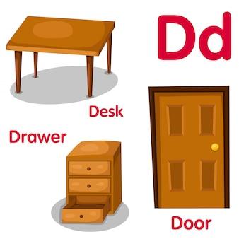 Illustrator of d alphabet
