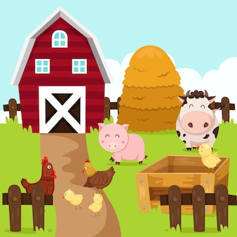 Illustrator of farm