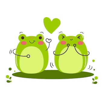 Illustrator of frog mascot vector