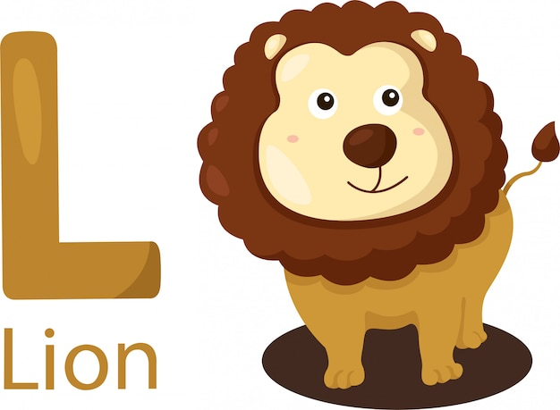 Illustrator of l with lion