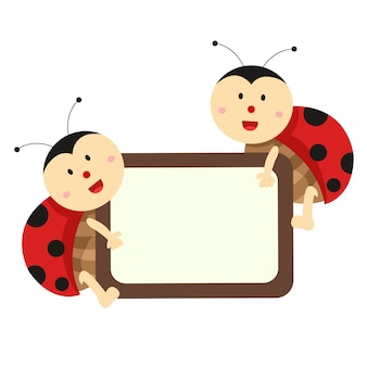Illustrator of ladybug banner