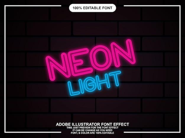 Illustrator neon glow graphic style editable typography