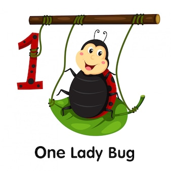 Illustrator of number of one lady bug
