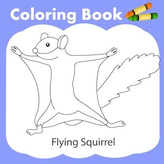 색칠하기 책 날다람쥐의 일러스트 레이터
