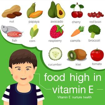 Иллюстратор питания с высоким содержанием витамина e