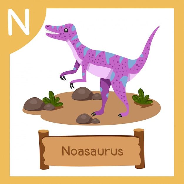 恐竜ノアサウルスのnのイラストレーター