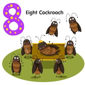 여덟 바퀴벌레의 일러스트 레이터