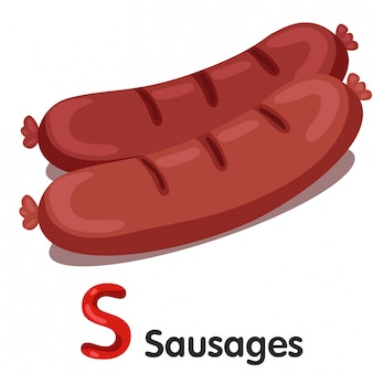 Illustrator of s font with sausages