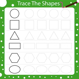 Illustrator of trace the shapes
