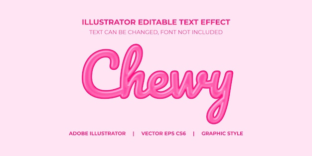 Illustrator vector text effect graphic style chewy candy