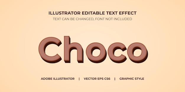 Иллюстратор векторный текстовый эффект в графическом стиле choco block