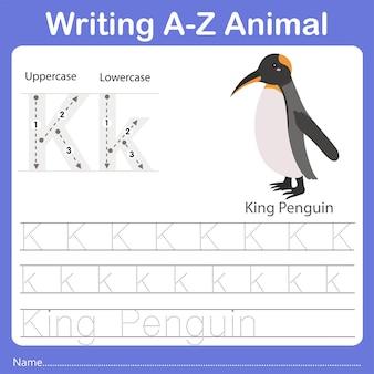 Illustrator of writing az animal king penguin