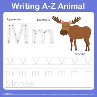 Illustrator of writing az animal moose