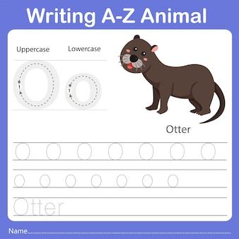 Illustrator of writing az animal otter