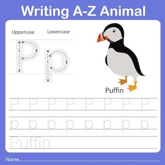 Illustrator of writing az animal puffin