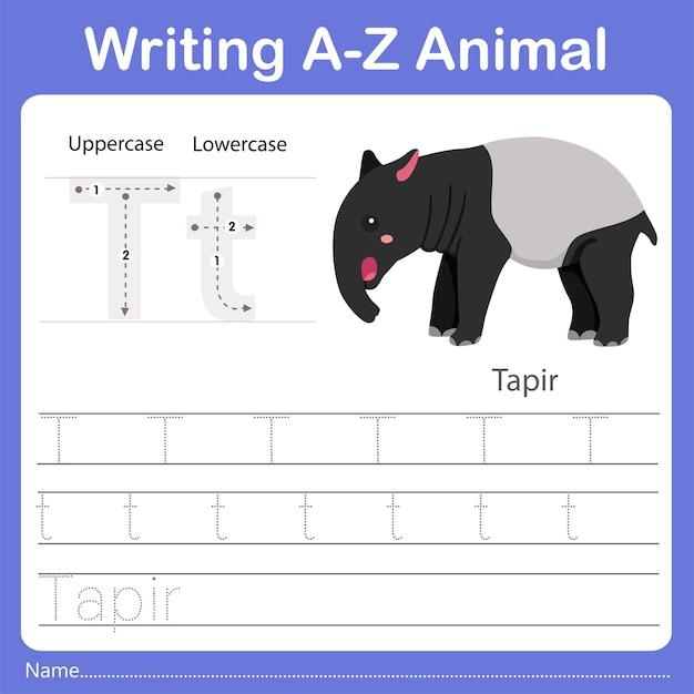 Illustrator of writing az animal tapir