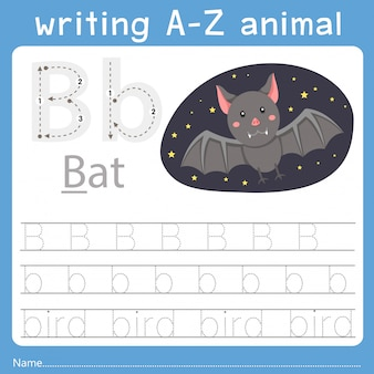 Illustrator of writing a-z animal b