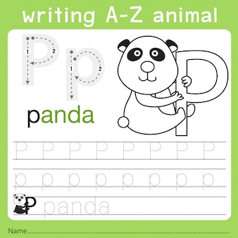 Illustrator of writing a-z animal p