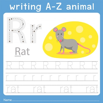 Illustrator of writing a-z animal r