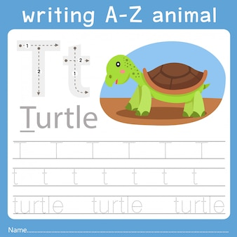 Illustrator of writing a-z animal t