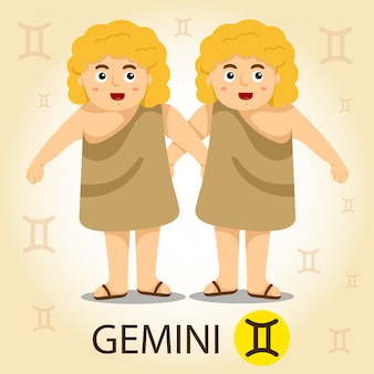 Illustrator of zodiac with gemini