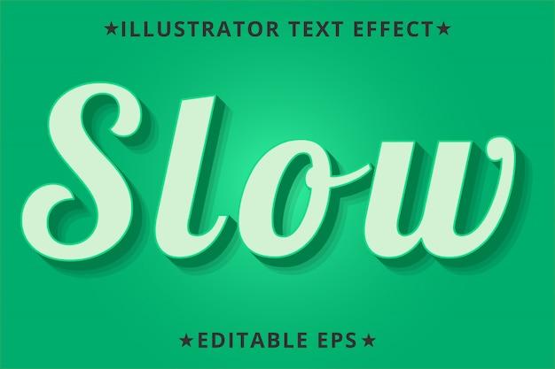 Медленный редактируемый эффект стиля текста illustrator