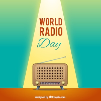 Iluminated фон радио