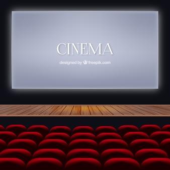 Schermo ilumintated nel cinema