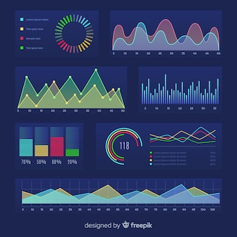 Ilustration growth of business percentage template