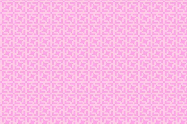 正方形の数字とイラストのレトロなパステルパターンの背景。バイオレットとピンク